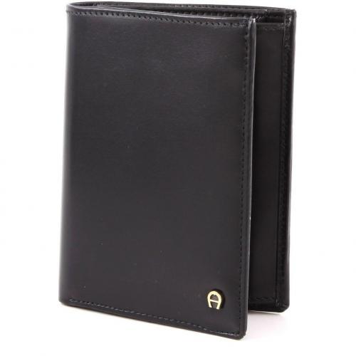 Basics Geldbörse Leder schwarz 12,5 cm von Aigner