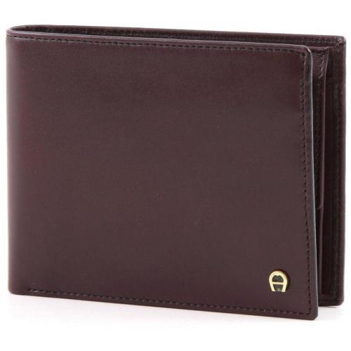 Basics Geldbörse Leder dunkelrot 11 cm von Aigner