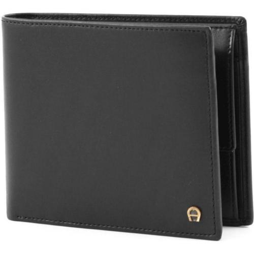 Basics Geldbörse Herren Leder schwarz 12 cm von Aigner