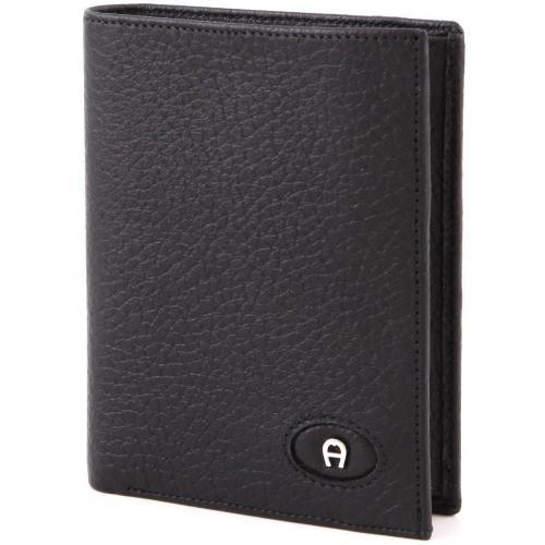 Basics Geldbörse Leder schwarz 12 cm von Aigner