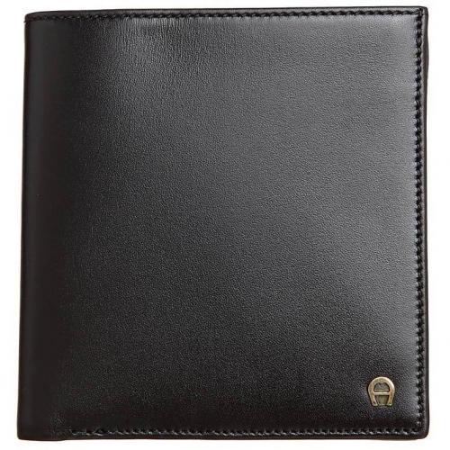 Geldbörse black mit 3 Kartenfächern von Aigner