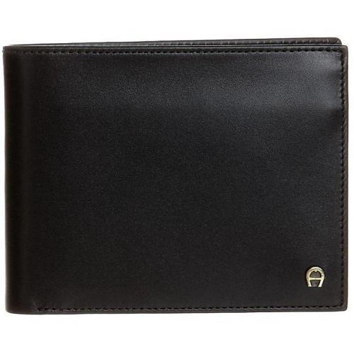 Geldbörse black mit 6 Kartenfächern von Aigner