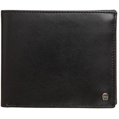 Geldbörse black mit 8 Kartenfächern von Aigner