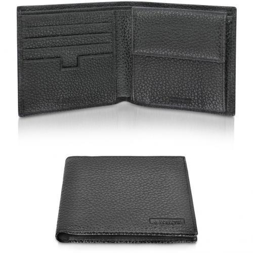 Portemonnaie aus Kalbsleder mit Münzfach und ID Fenster von A.Testoni