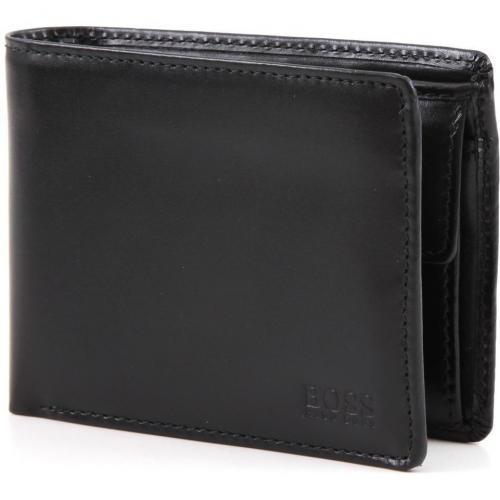 Arezzo Geldbörse Herren Leder schwarz 12 cm von Boss Black