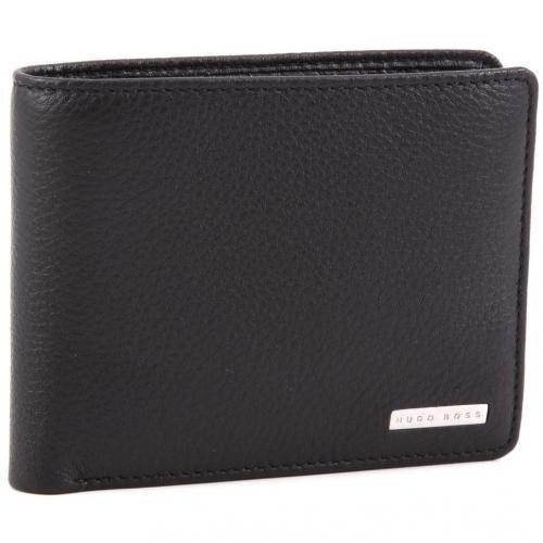 Bento Geldbörse Herren Leder schwarz 11,5 cm von Boss Black