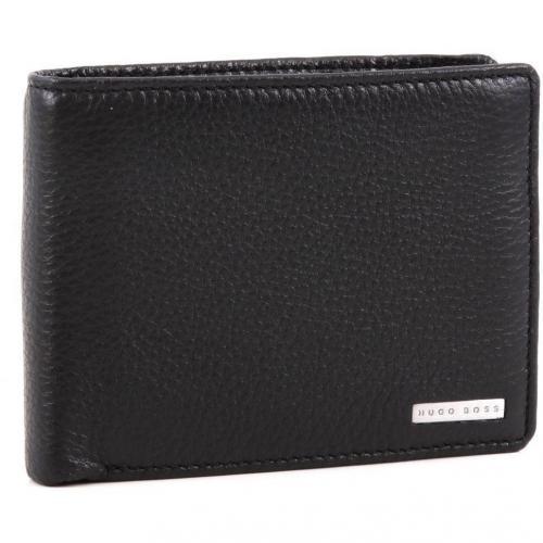 Billon Geldbörse Herren Leder schwarz 12 cm von Boss Black