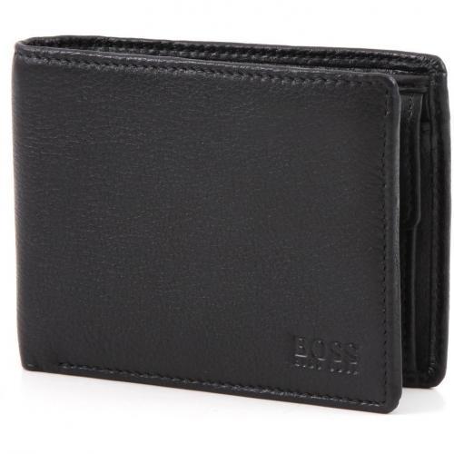 Gigio Geldbörse Herren Leder schwarz 12 cm von Boss Black
