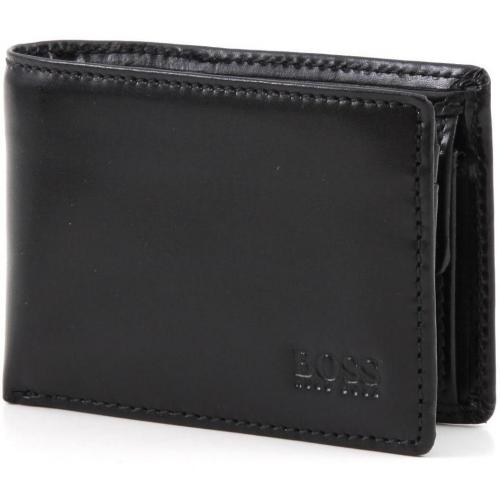 Mira Geldbörse Herren Leder schwarz 11 cm von Boss Black