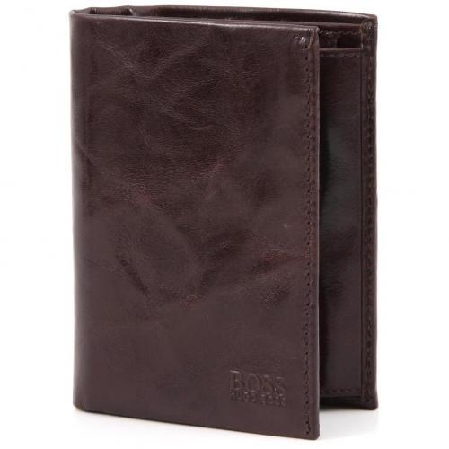 Pisa Geldbörse Herren Leder braun 12,5 cm von Boss Black