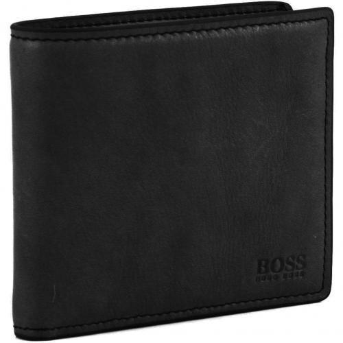Respor Geldbörse Herren Leder schwarz 12 cm von Boss Black