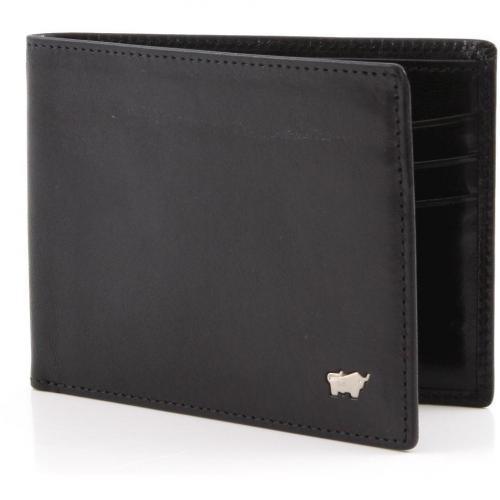 Basic Geldbörse Herren Leder schwarz 11,5 cm von Braun Büffel