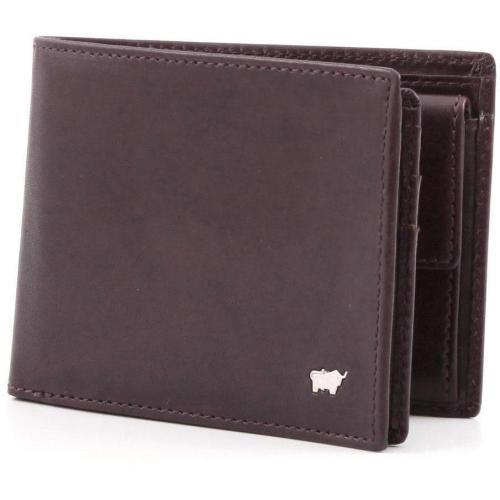 Basic Geldbörse Leder bordeaux 12,5 cm von Braun Büffel