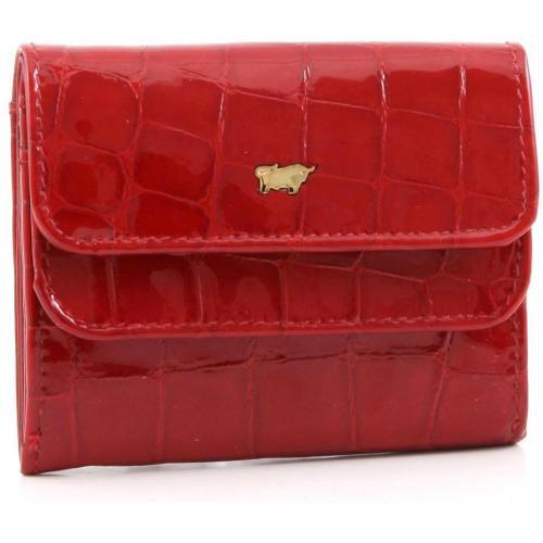 Glanzkroko Geldbörse Leder rot 9,6 cm von Braun Büffel