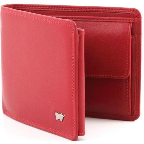 Golf Geldbörse Leder rot 12 cm von Braun Büffel
