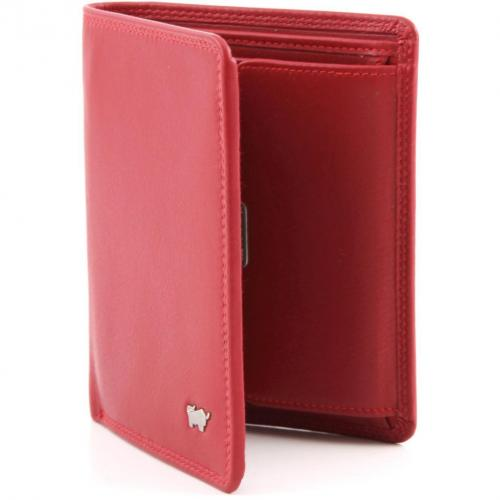 Golf Geldbörse Leder rot 12,3 cm von Braun Büffel