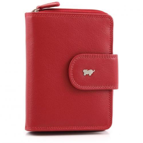 Golf Geldbörse Leder rot 12,5 cm von Braun Büffel