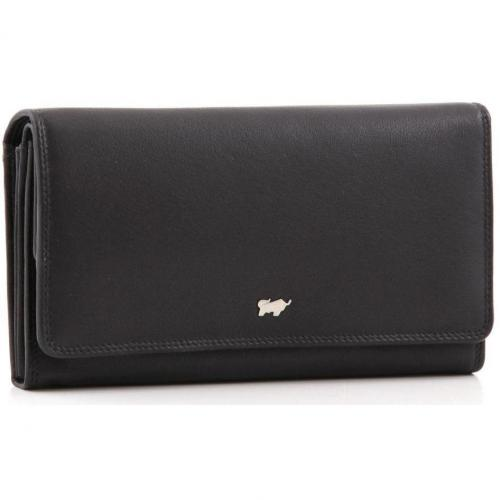 Golf Geldbörse Leder schwarz 18 cm von Braun Büffel
