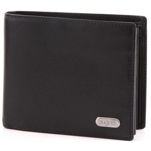 Basic Line Geldbörse Herren Leder schwarz 11,5 cm von Bugatti
