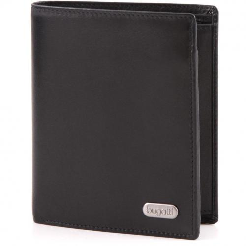 Basic Line Geldbörse Herren Leder schwarz 12 cm von Bugatti