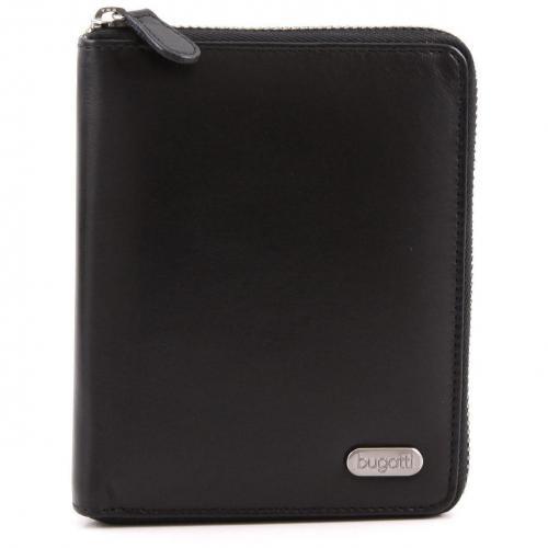 Basic Line Geldbörse Herren Leder schwarz 12,5 cm von Bugatti