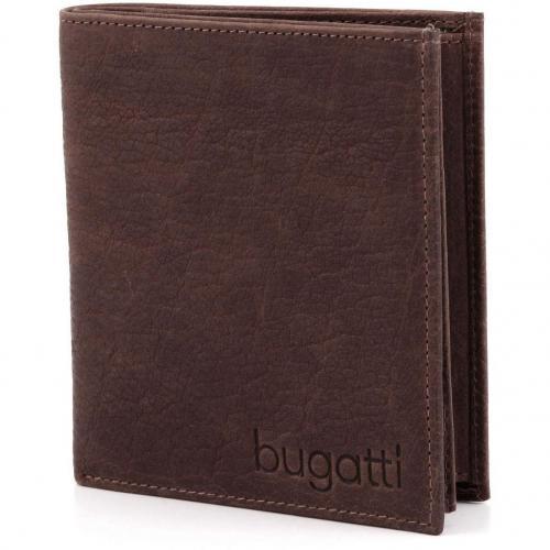 Go West Geldbörse Herren Leder braun 12,5 cm von Bugatti
