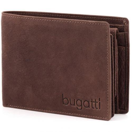 Go West Geldbörse Herren Leder braun 13 cm von Bugatti