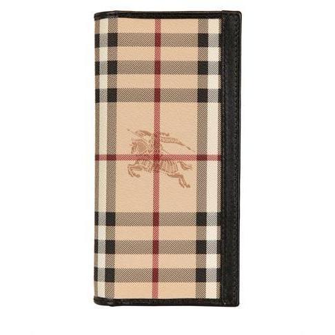 Beschichtete Continental Canvas Check-Brieftasche von Burberry