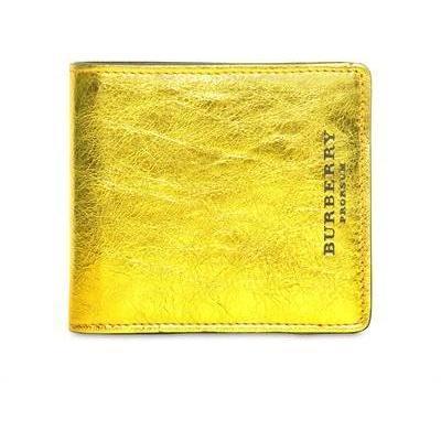 Brieftasche aus Geädertem Metallischem Leder von Burberry Prorsum
