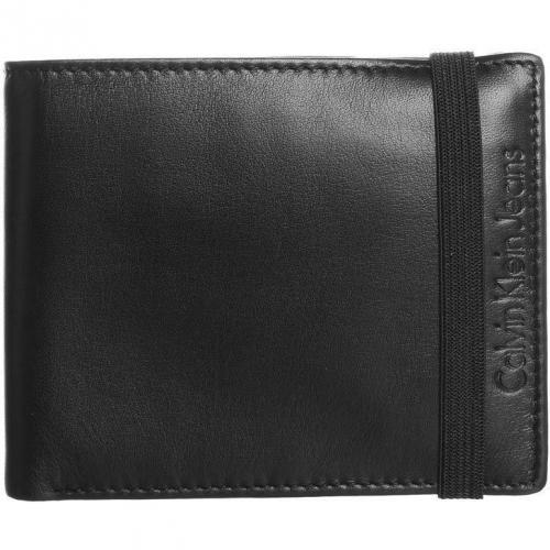 Geldbörse black aus Rindsleder von Calvin Klein Jeans