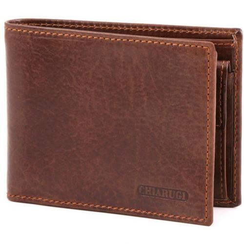 Classic Geldbörse Herren Leder braun 13 cm von Chiarugi