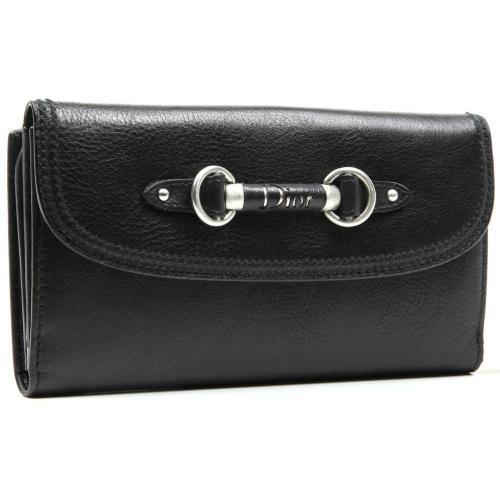 My Dior Geldbörse Leder schwarz 17,5 cm von Christian Dior