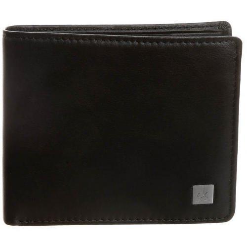 Geldbörse black mit Metall-Logo von CK Calvin Klein