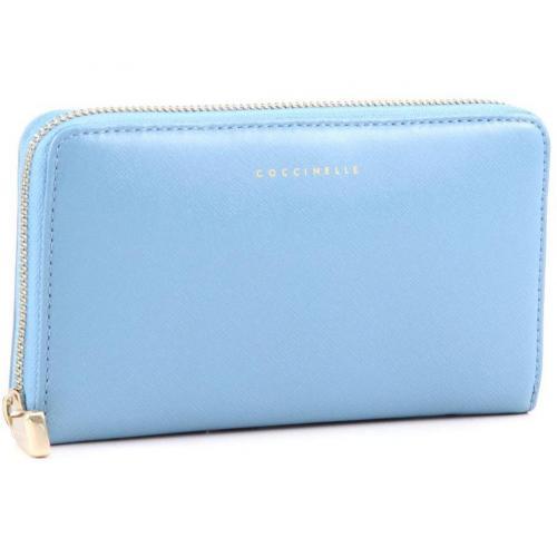 Lady Geldbörse Leder hellblau 18 cm von Coccinelle