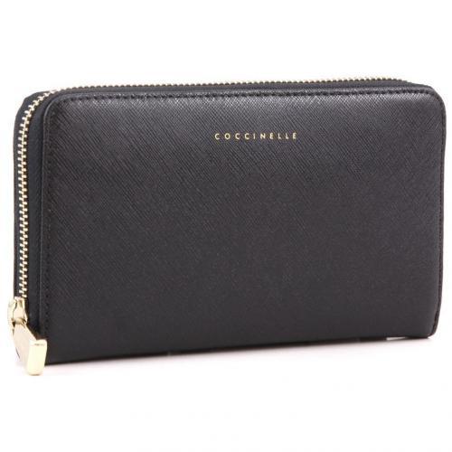 Lady Geldbörse Leder schwarz 18 cm von Coccinelle
