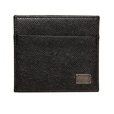 Brieftasche für Kreditkarten aus Dauphine Leder von Dolce & Gabbana