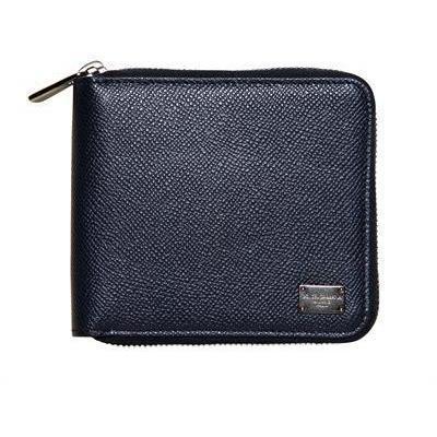 Brieftasche mit Reißverschluss & Dauphine Druck von Dolce & Gabbana