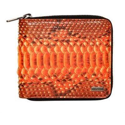 Pythonbrieftasche mit Rundherum-Reißverschluss von Dolce & Gabbana