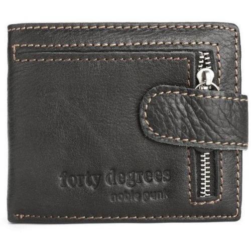 Geldbörse schwarz mit Drucckknopfverschluss von Forty Degrees