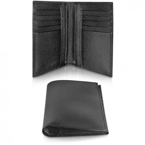 Class Brieftasche aus geprägtem Leder in schwarz von Giorgio Fedon 1919