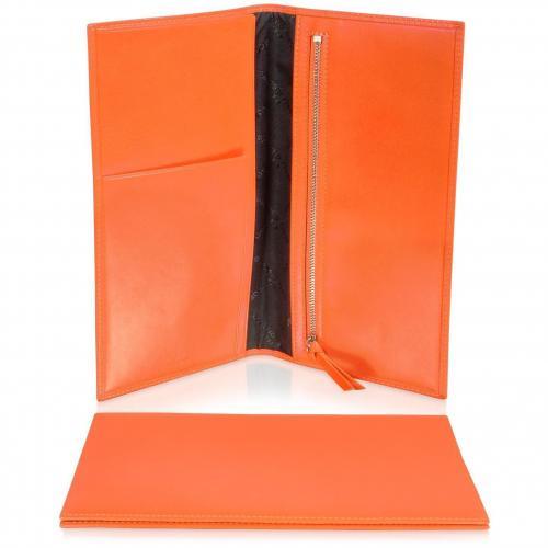 Classica Collection Reise- Dokumentenmappe aus Kalbsleder in orange von Giorgio Fedon 1919