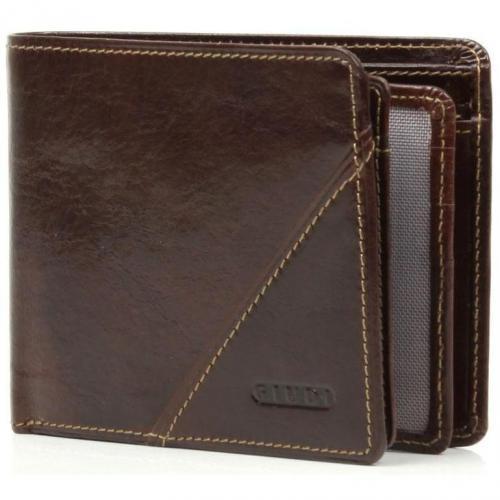 Geldbörse Leder braun 9,5 cm von Giudi