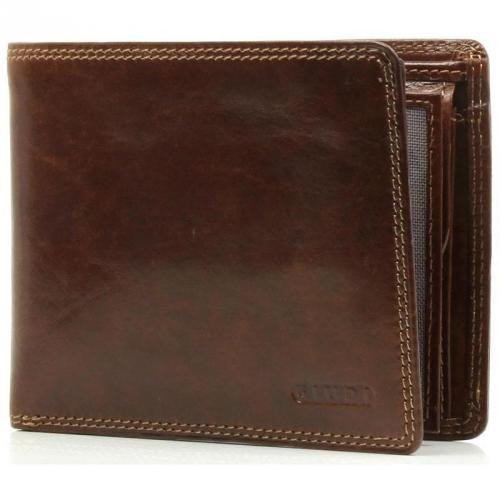Geldbörse Leder braun 13 cm von Giudi