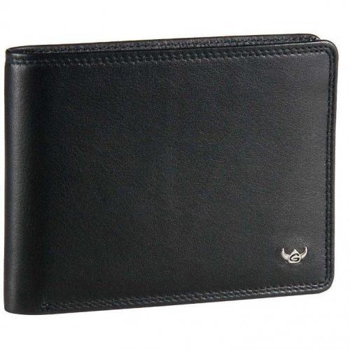 Geldbörse schwarz 12 x 9 x 2 cm von Golden Head
