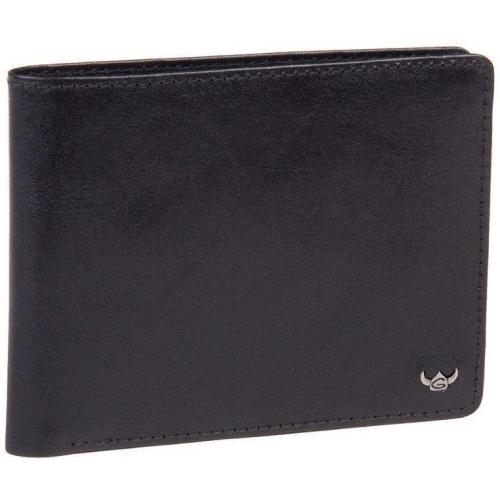 Geldbörse schwarz 12,5 x 9,5 x 1,5 cm von Golden Head