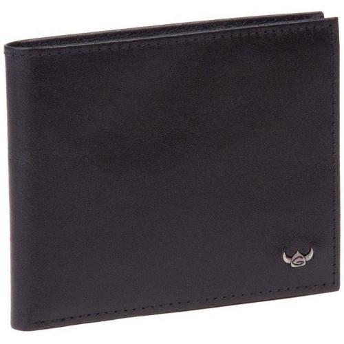 Geldbörse schwarz aus Vollrindleder von Golden Head