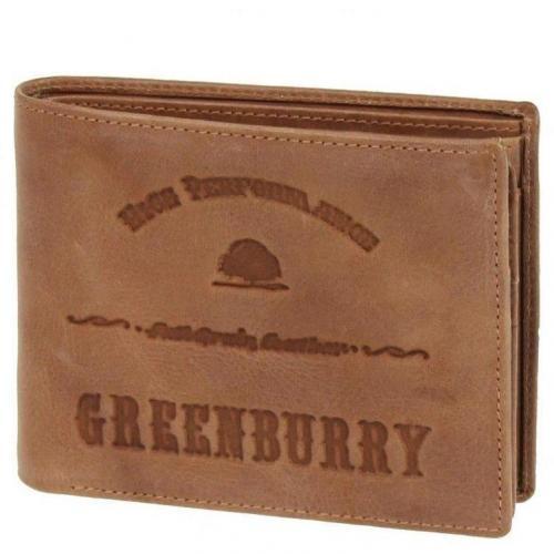 Full Grain 12 cm Geldbörse cognac von Greenburry