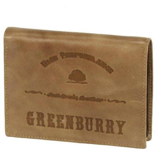 Full Grain 12,5 cm Geldbörse beige von Greenburry