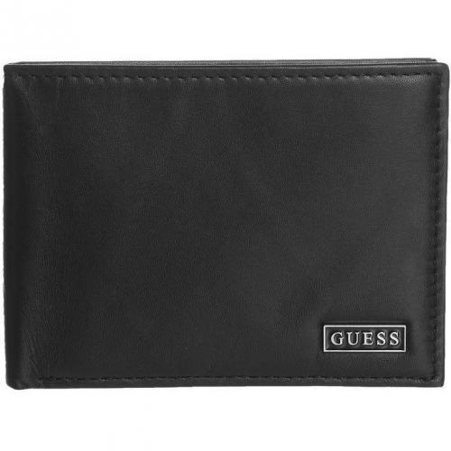 Geldbörse schwarz mit 3 Kartenfächern von Guess