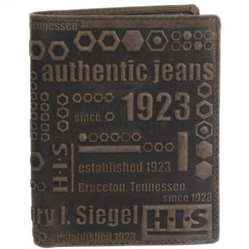H.i.s. Geldbörse braun aus Echtleder von H.I.S.